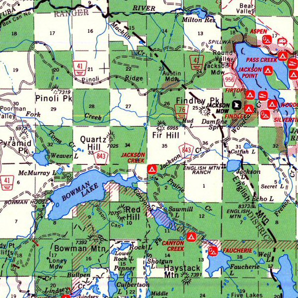 Map of Tahoe National Forest Map, - World Map Database Ca National Forest Map on